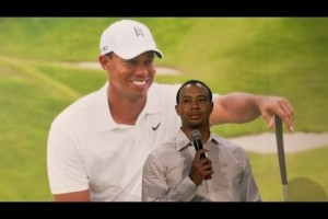 'We'll see what the Golf Channel does' says Tiger Woods after 'cheat' comment – video