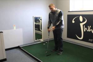 Winter Golf Tip – A great putting drill you can practice in the house in winter